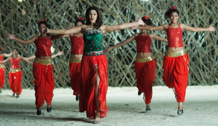 Richa Sexy Dancing Still From Sarocharu Movie