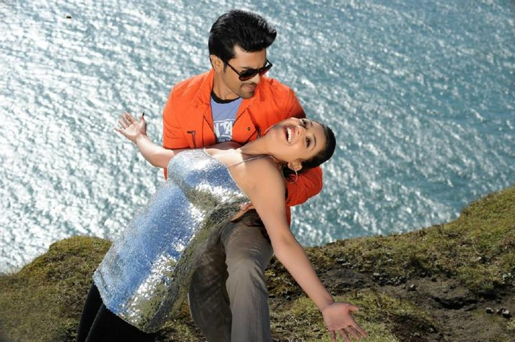 Ram Charan And Kajal Romance In A Song On Telugu Movie Naayak
