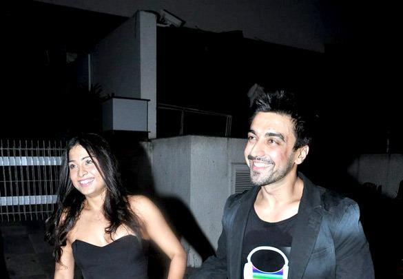 Aashish With Wife Samita Smiling Still At Yuvraj Singh Birthday Bash