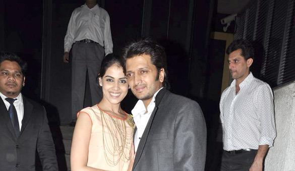 Riteish With Wife Genelia Posed At Yuvraj Singh Birthday Bash