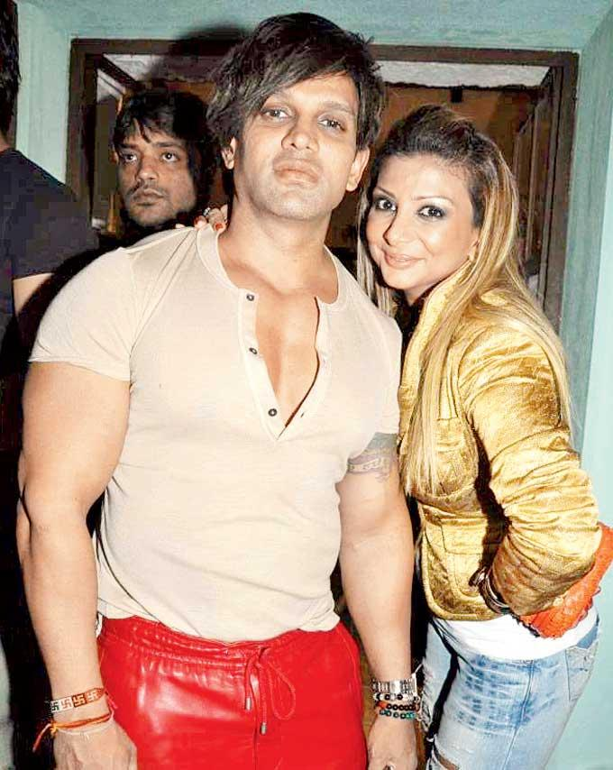 Yash With Ramona Pose For Camera At Cheval Bar And Restaurant Launch Party