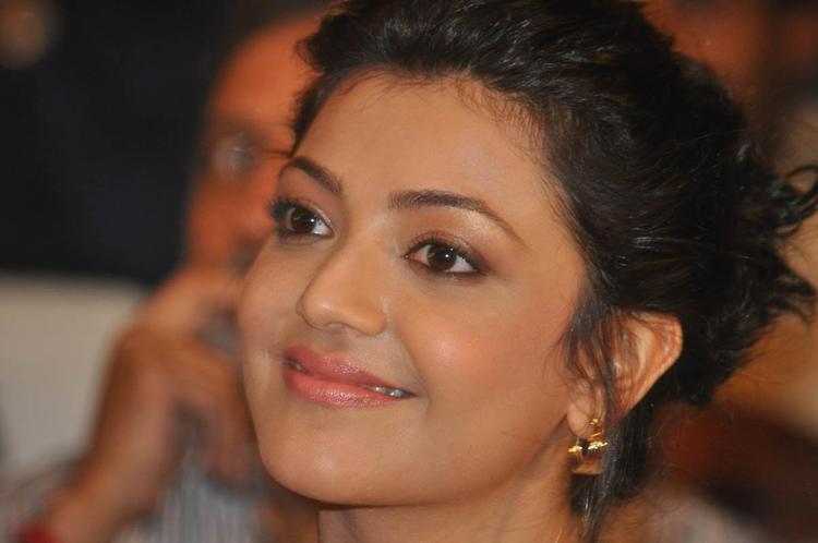 Kajal Agarwal Smiling Face Look Still At Naayak Audio Release Function