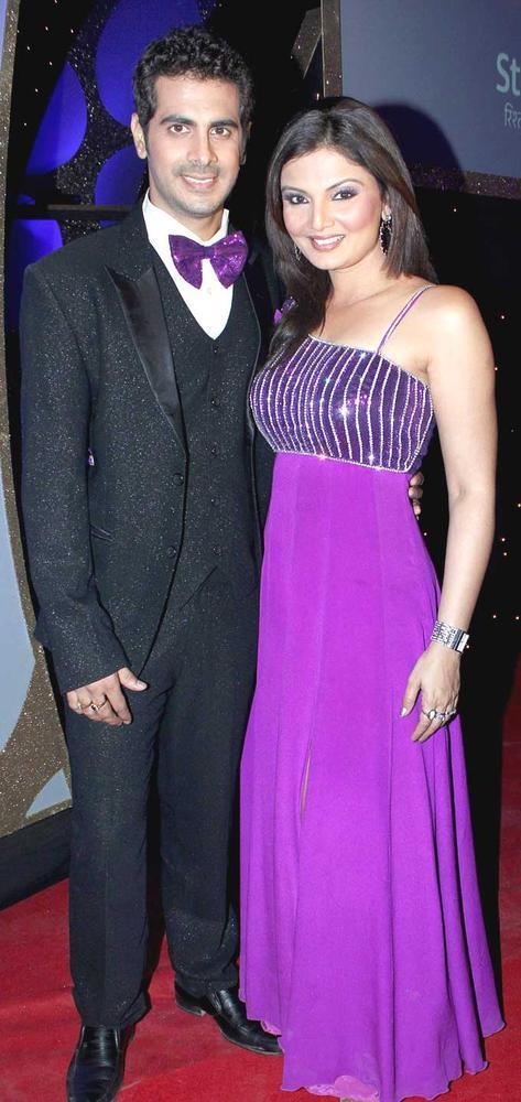 Deepshikha With Hubby Kaishav Nice Smiling Pose At The Launch Of Nach Baliye Season 5