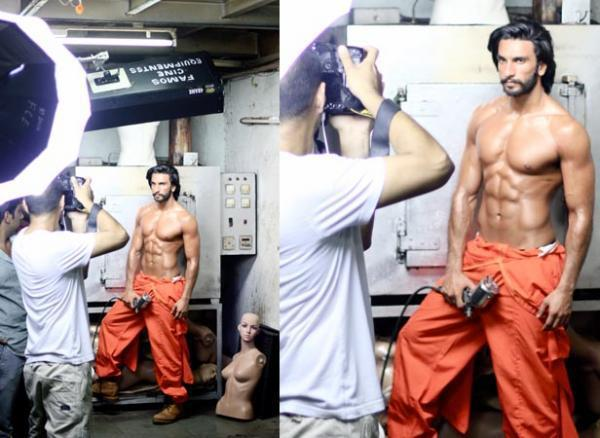 Ranveer Open Shirt Hot Look Photo Shoot For Filmfare January 2013 Issue