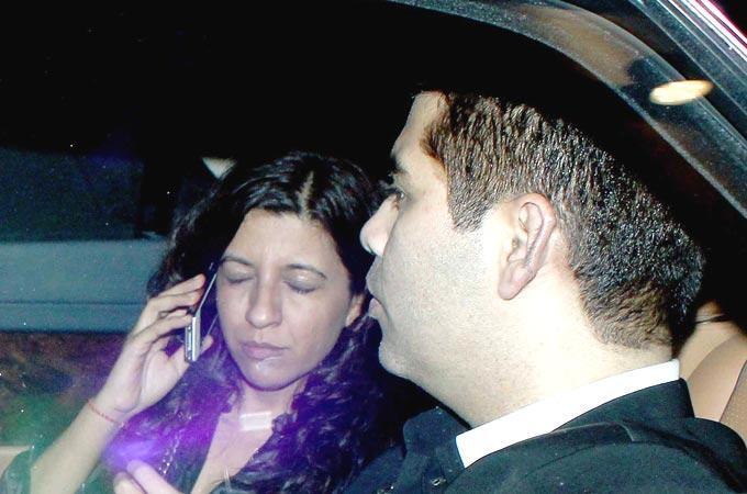 Karan And Zoya Snapped In Car At Imran Khans Housewarming Party