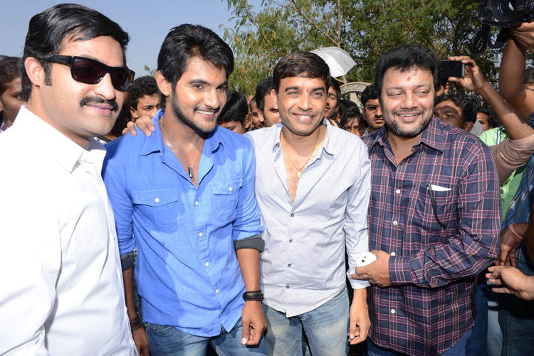 Jr NTR And Aadi Snapped At Aadi New Movie Launch Event