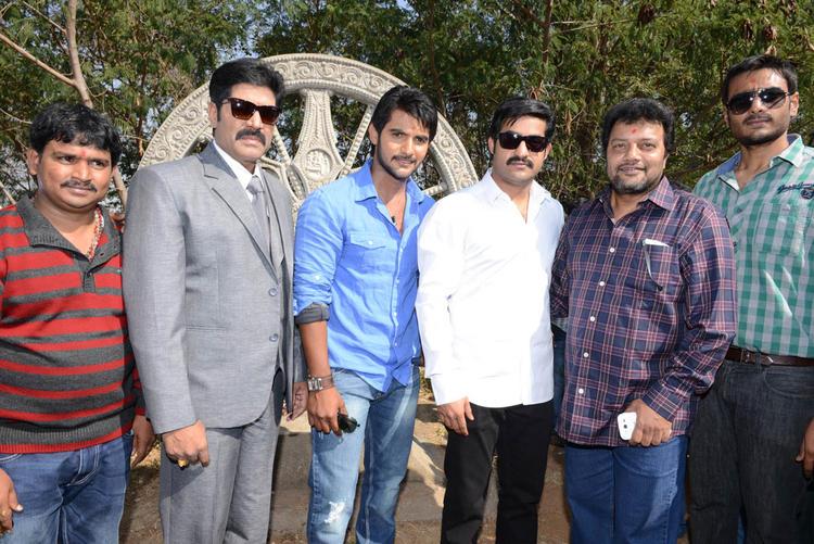 Jr NTR,Aadi And Srihari Posed For Camera At Aadi New Movie Launch Event