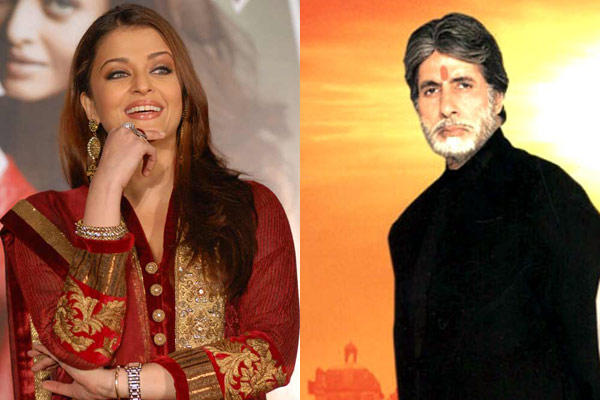Amitabh Bachchan And Aishwarya Rai Bachchan Nice Still