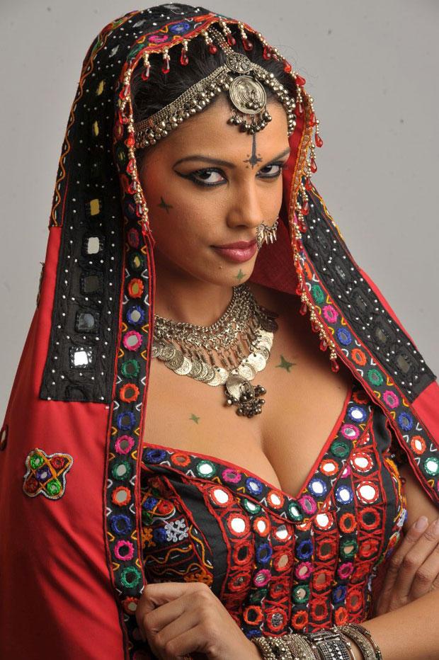 Gabriela Bertante Looked Ravishing In A Red Ghagra Choli