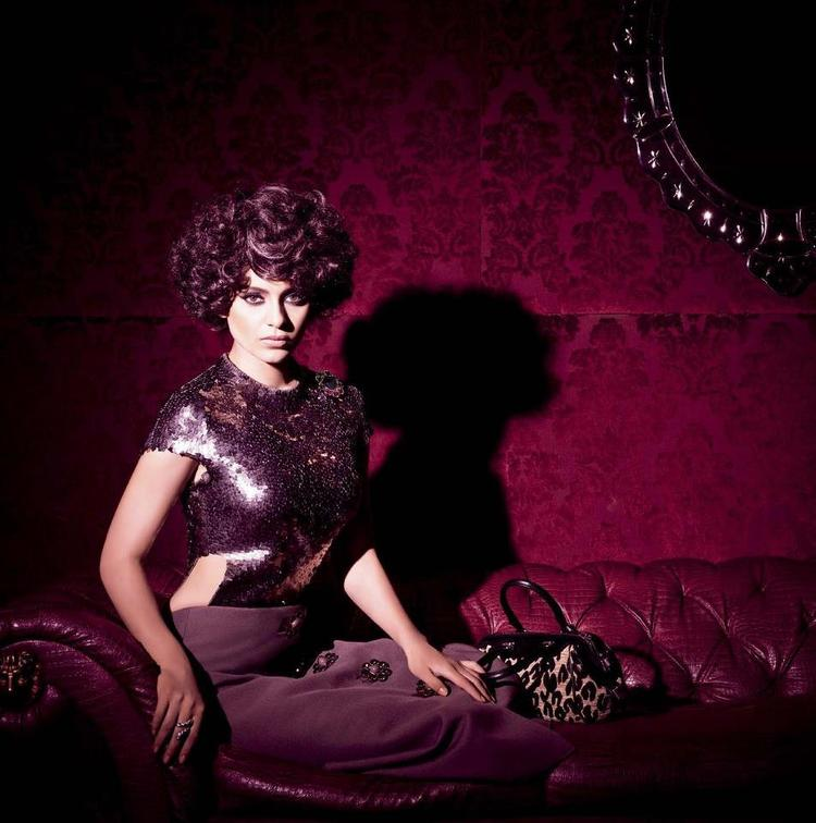 Kangana Ranaut Awesome Looked Photo Shoot For Harpers Bazaar India December 2012