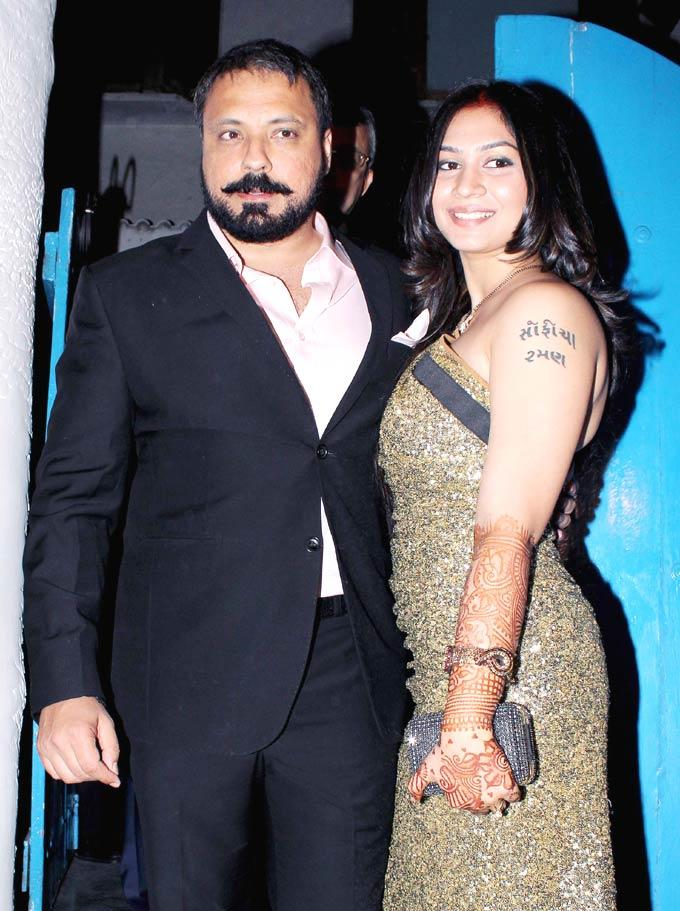 Bunty With His Lovely Bride Vanessa At Their Wedding Reception Bash