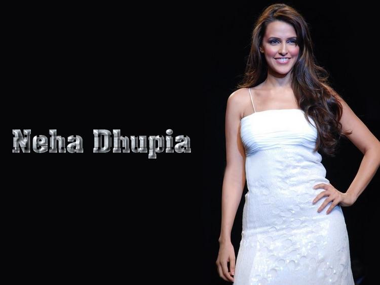 Neha Dhupia White Dress Gorgeous Wallpaper