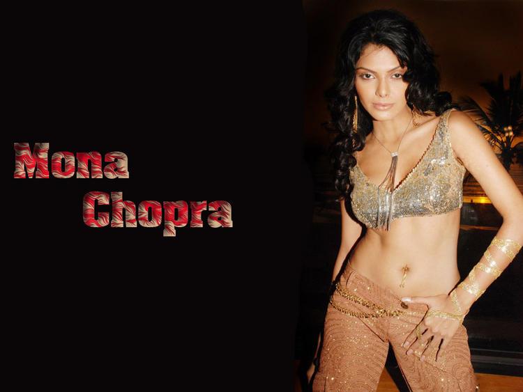 Mona Chopra Spicy Navel Show Hot Wallpaper