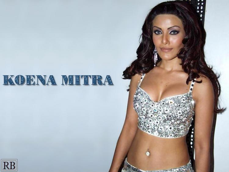 Koena Mitra Latest Glamour Boob and Navel Wallpaper