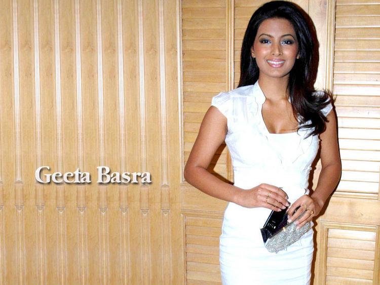 Geeta Basra  White Dress Sweet Wallpaper