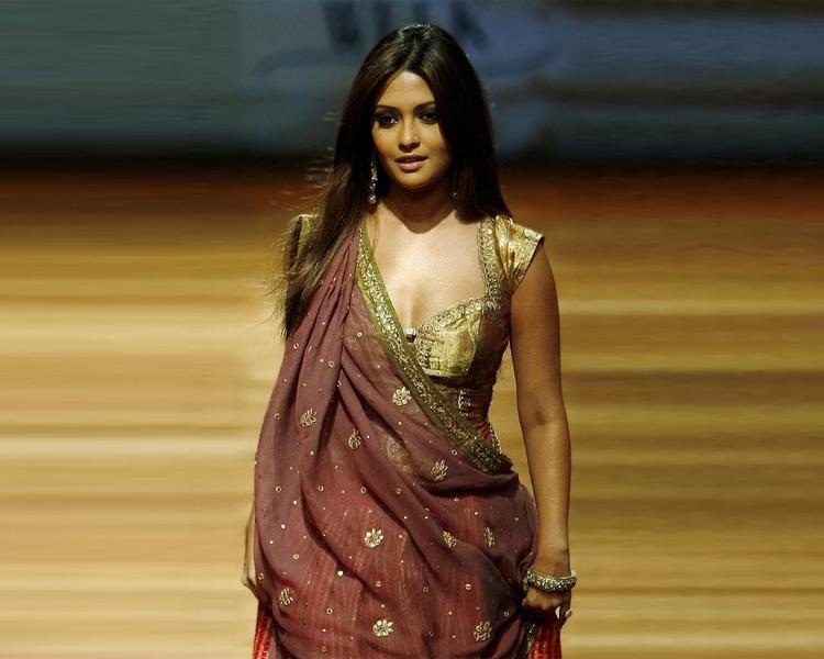 Riya Sen Sexy Cleavages Glamour Still