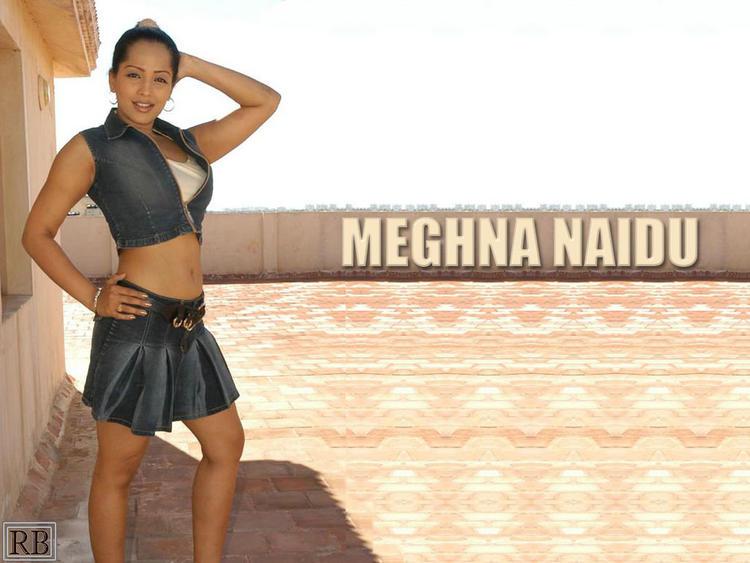 Meghna Naidu Hot Wallpaper With Mini Skirt