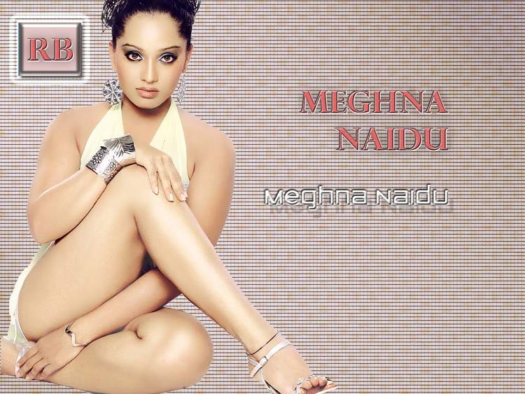 Meghna Naidu Milky Legs Show Wallpaper