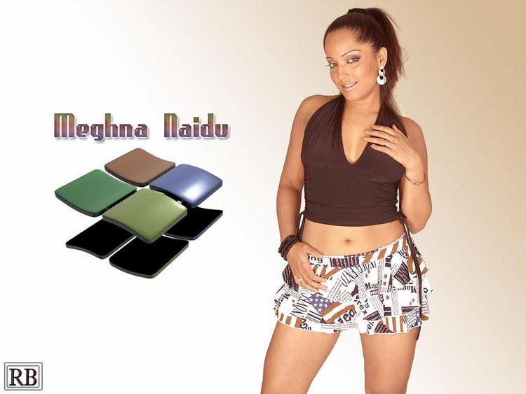 Meghna Naidu Mini Skirt Sexy Wallpaper