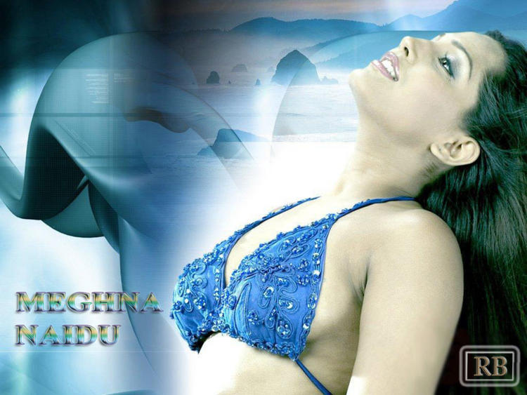 Meghna Naidu Wet Bikini Wallpaper