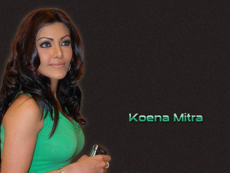 Koena Mitra Green Dress Wallpaper