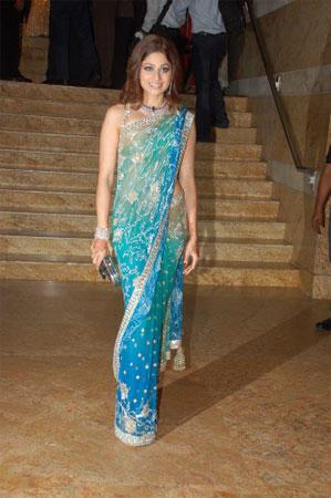 Shamita Shetty at Shilpa Shetty Wedding Reception