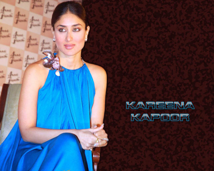 Kareena Kapoor Light Blue Dress Hot Wallpaper