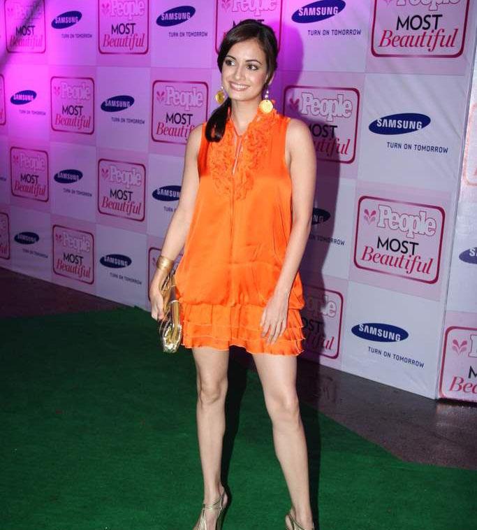 Diya Mirza On Green Carpet at People Magazine Most Beautiful Event