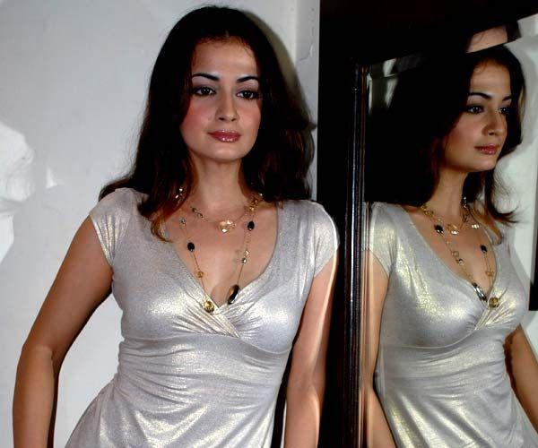 Diya Mirza Silver Color Dress Still