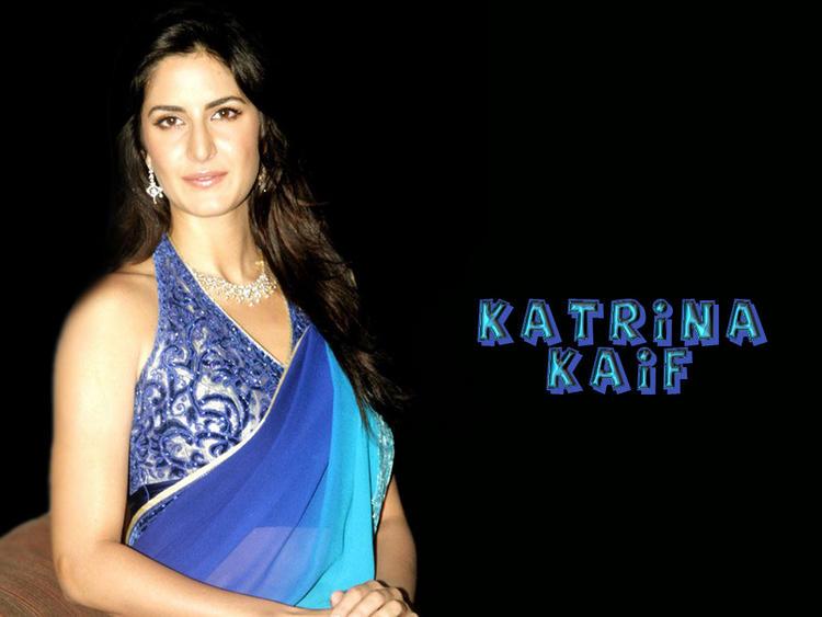 Katrina Kaif Dual Color Saree Gorgeous Wallpaper