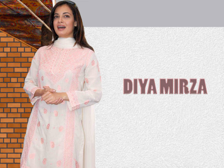 Diya Mirza Latest Pic In Simple Dress