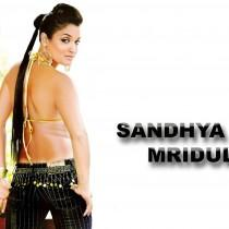 Sandhya Mridul Spicy Look With Sexy Back Bare Wallpaper