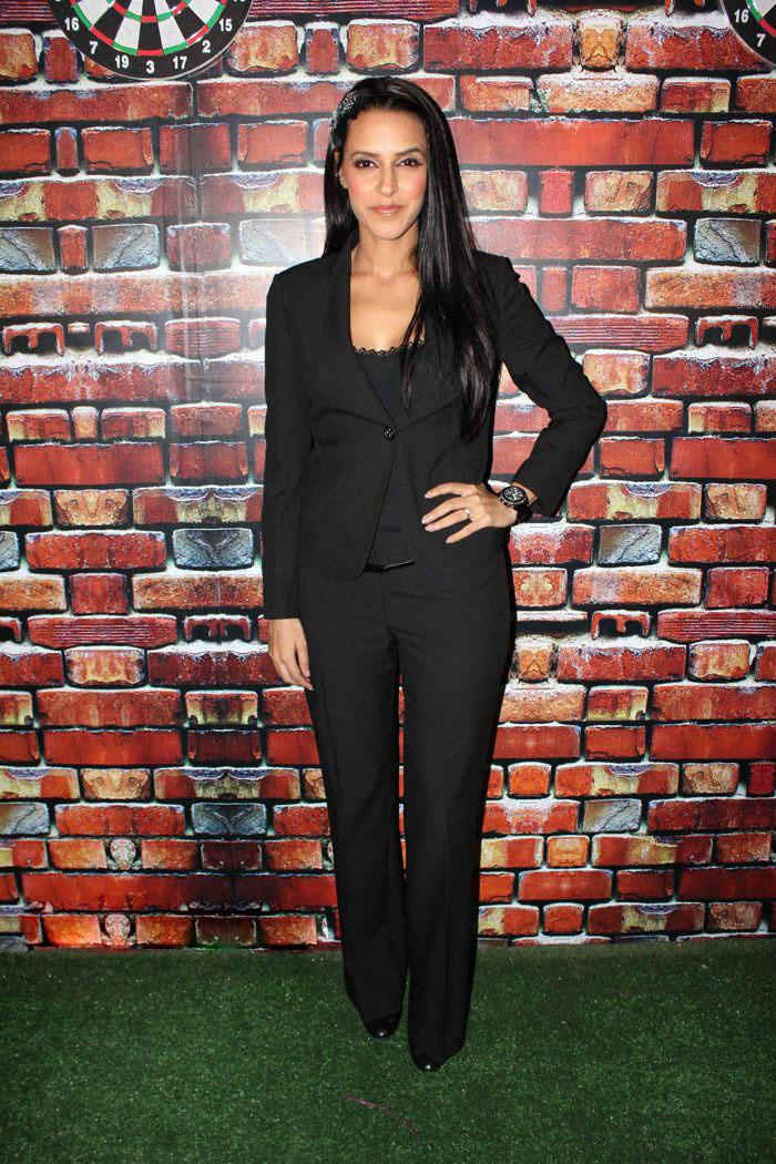 Neha Dhupia Stylist Still In Black Blazer and Pant