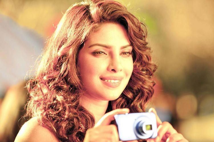 Priyanka Chopra Gorgeous Pic On The Sets Of Nikon TVC Shoot