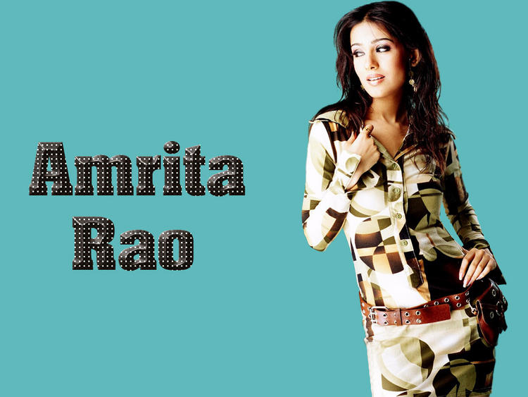 Amrita Rao Sexy Pose Wallpaper