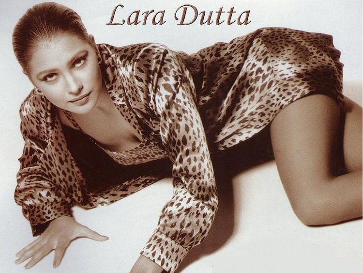 Lara Dutta Hot Look Wallpaper In Animal Print Dress