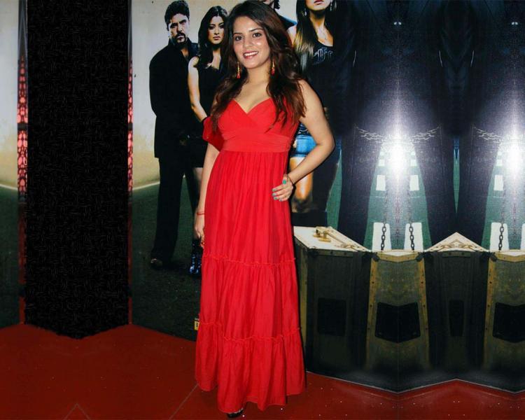 Shruti Gera Red Dress Beauty Still