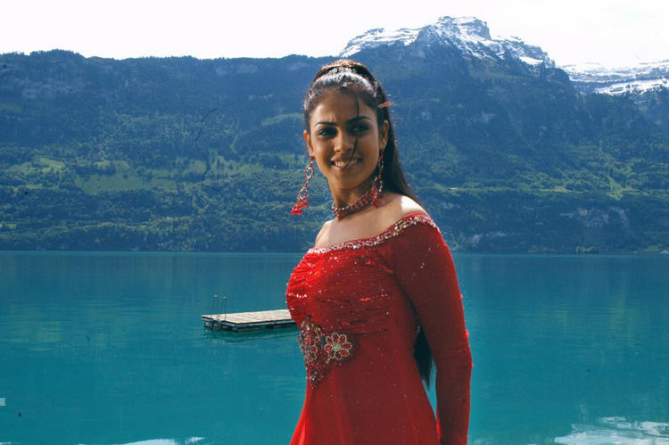 Genelia D'souza Red Dress Sexy and Sweet Still