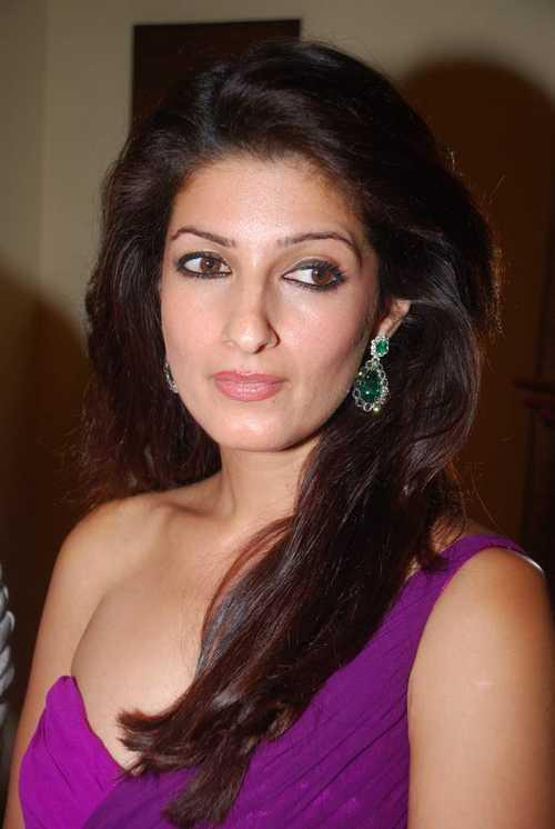 Twinkle Khanna Purple Dress Hot Pics