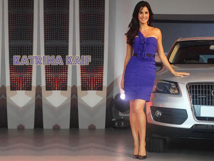 Katrina Kaif Blue Dress Hot Wallpaper