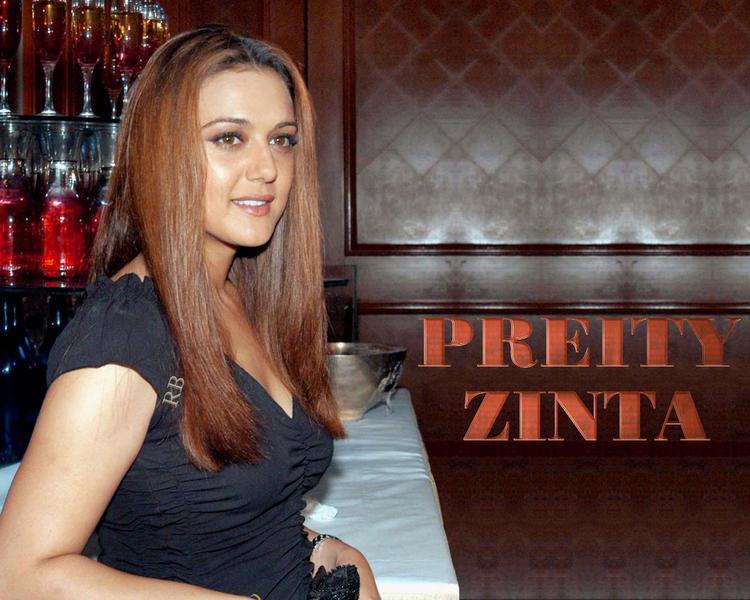 Preity Zinta Dazzling Face Look Wallpaper