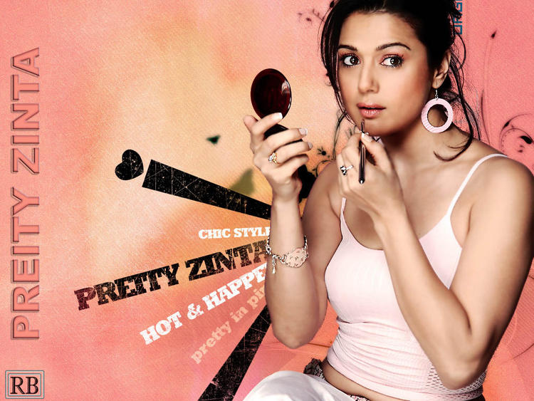 Preity Zinta Taking Makeup Wallpaper