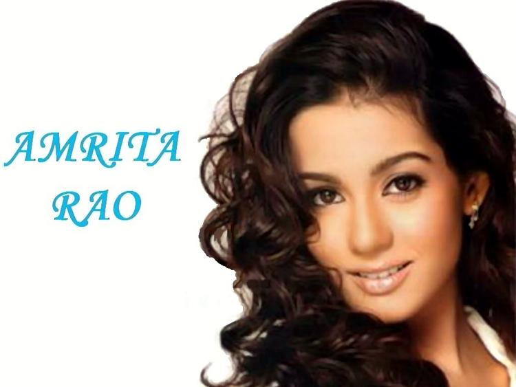 Amrita Rao Beauty Romantic Look Wallpaper