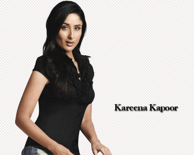 Kareena Kapoor Sexy Look Wallpaper In Black Tops