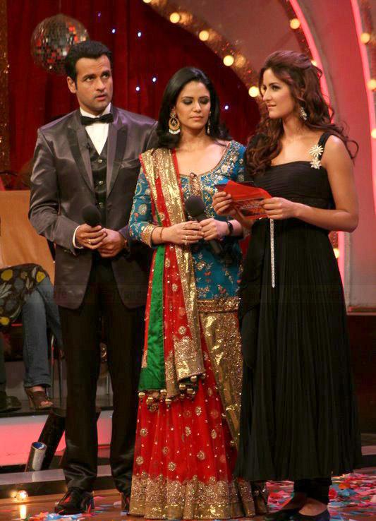 Rohit Roy,Katrina Kaif and Mona Singh at Jhalak Dikhla Jaa Final