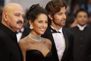Hrithik Roshan and Barbara at Cannes