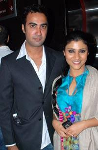 Konkona Sen Sharma and Ranvir Shorey Poses To Photo Shoot