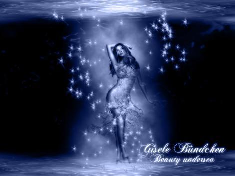 Gisele Bundchen Underwater Wallpaper Pic