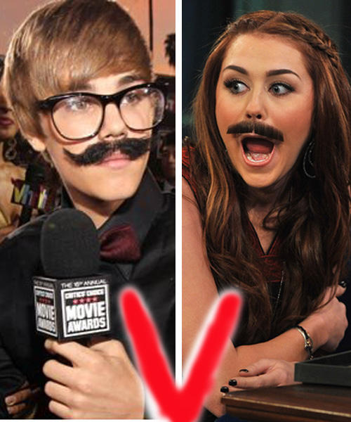 Justin Bieber and Miley Cyrus Looking Very Cute