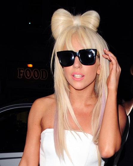 Lady Gaga White Strapless Dress Still
